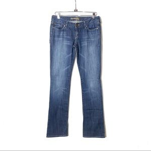 EXPRESS Blue Low-Rise Flare Jeans 6L